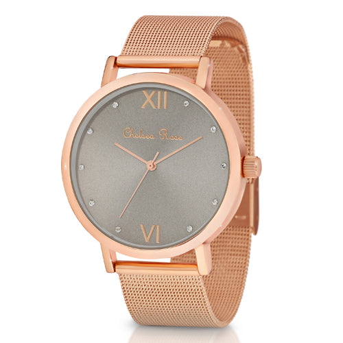 Chelsea Rose Mesh Watch 7426-3CB