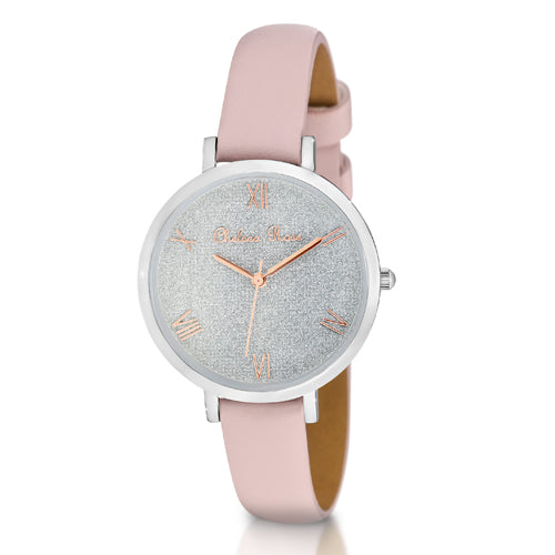 Chelsea Rose Glitter Watch 7484-1C2