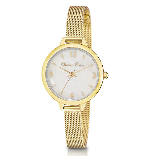 Chelsea Rose Mesh Watch 7530-2CB