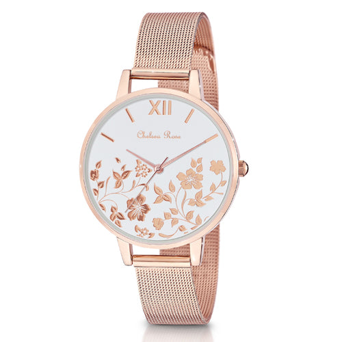 Chelsea Rose Floral Watch 7534-3CB