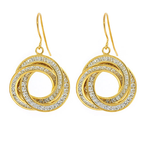 Gold Bonded Cubic Zirconia Hooks