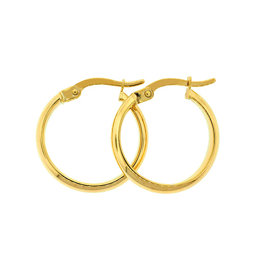Gold Bonded 15mm Hoops