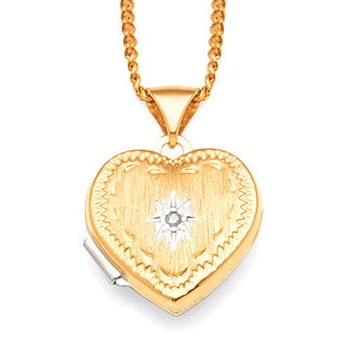 9ct Gold & Sterling Silver Heart Locket