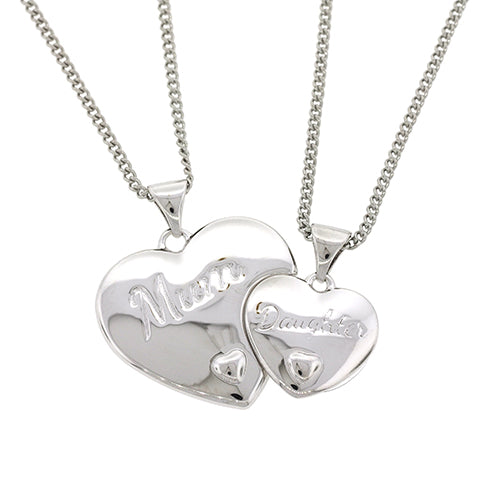 Sterling Silver Mum Daughter Pendants