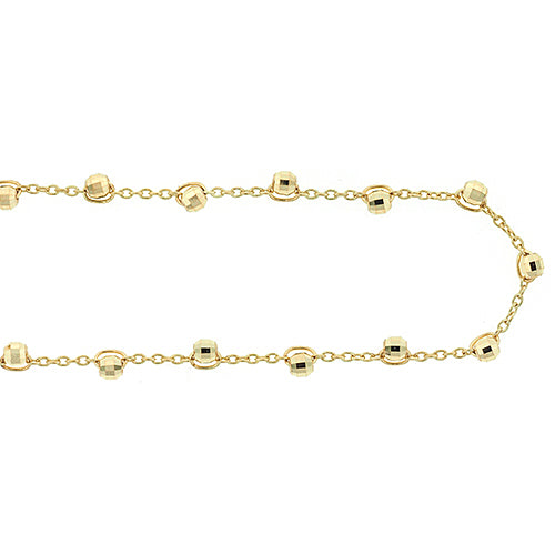 9ct Gold 25cm Ball Chain Anklet