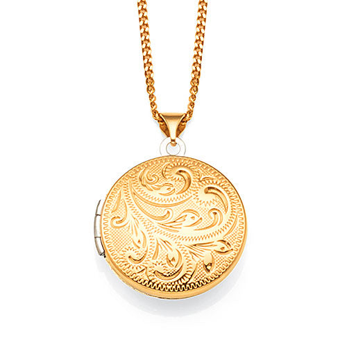 9ct Gold And Sterling Silver Circle Locket
