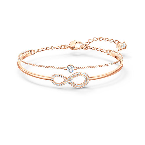 Swarovski  Rose-Tone 'Infinity' Bangle M 5518871
