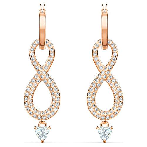 Swarovski Rose-Tone 'Infinity Drop' Hoops 5512625