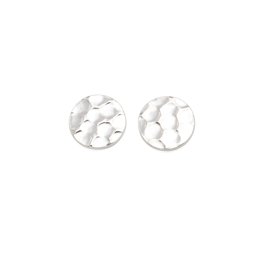 Sterling Silver 10mm Disc Stud Earrings