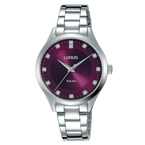 Lorus Silver Purple Watch RG297QX-9