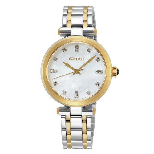 Seiko 2-Tone Mother of Pearl Watch SRZ532P