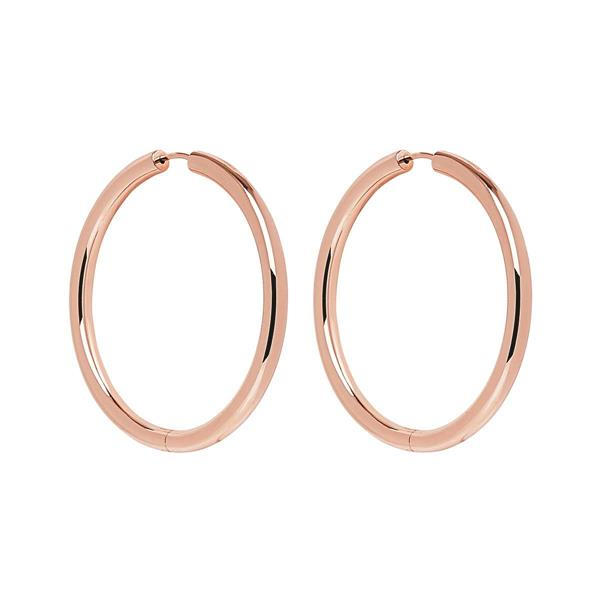Najo 'Bodey' Rose-Tone 50mm Hoops E6212