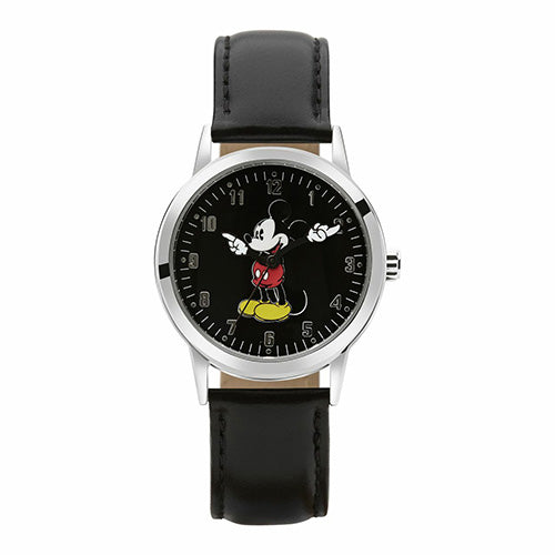 Mickey Mouse Black Leather Watch TA5303