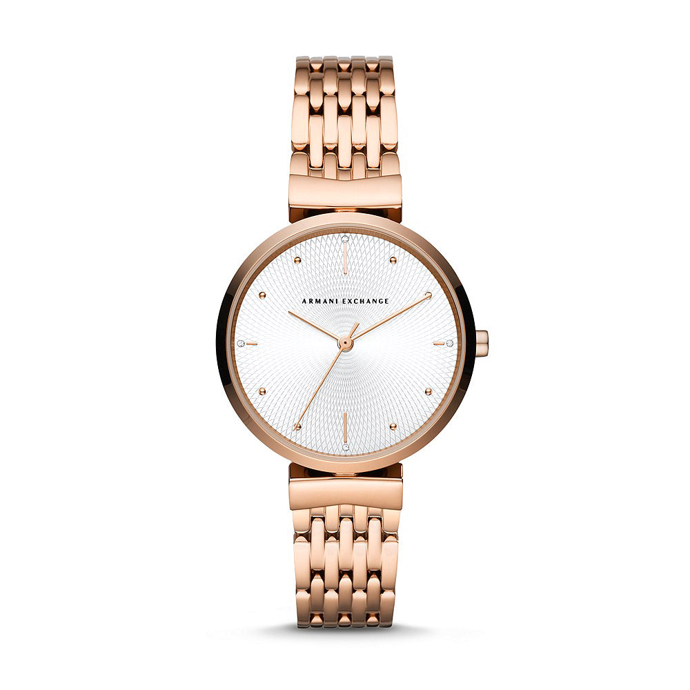 Armani Exchange 'Zoe' Rose Watch AX5901