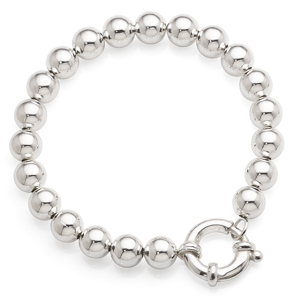 Sterling Silver 19cm Ball Bracelet