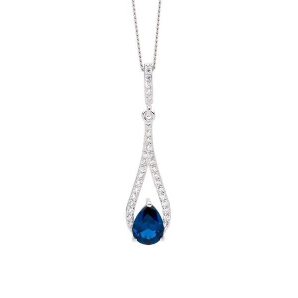Ellani London Blue CZ 45cm Necklet P837LB