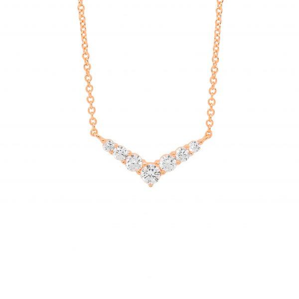 Ellani Rose-Tone V-Shaped 42cm Necklet P839R
