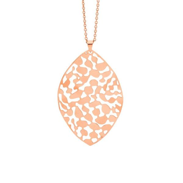Ellani Rose-Tone Filigree 50mm Pendant SP119R