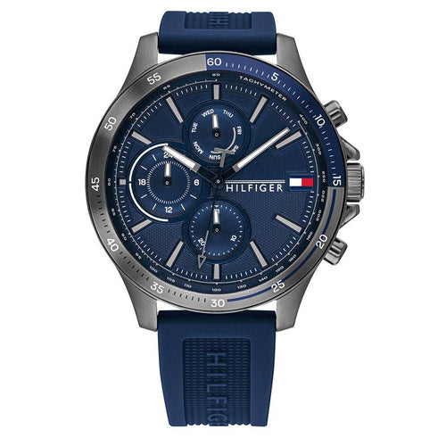 Tommy Hilfiger 'Bank' Blue Chronograph Watch 1791721