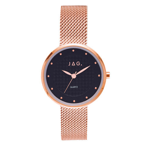 Jag Rose-Tone Mesh Watch J2308A