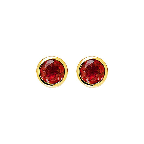 Najo 'Renown' 2-Tone Garnet Stud Earrings E6266