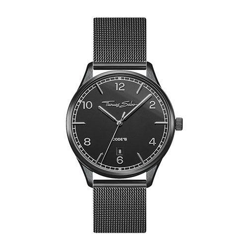 Thomas Sabo 'Code TS' Black Mesh Watch TWA0362
