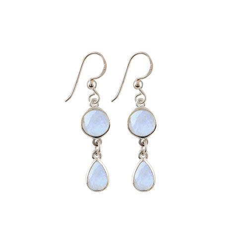 Von Treskow Moonstone Drop Earrings MOONE06