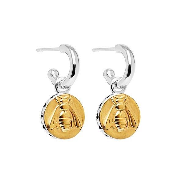 Najo 'Golden Bee' Sterling Silver Earrings E6280