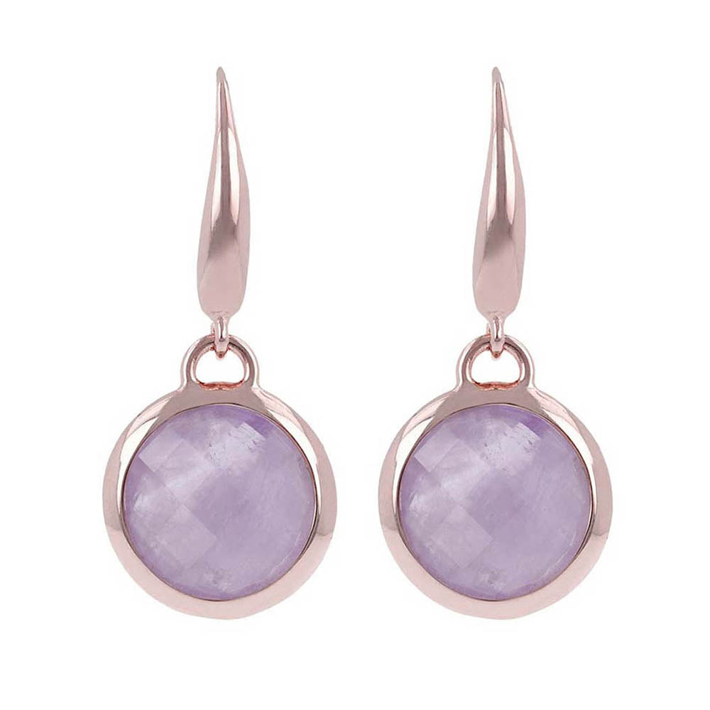 Bronzallure 'Incanto' Round Amethyst Drop Hook Earrings WSBZ