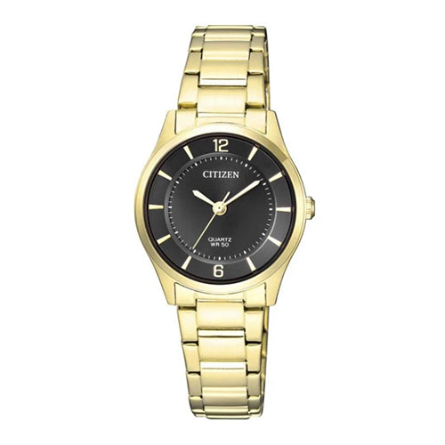 Citizen  Black and Gold Tone Watch ER0203-85E