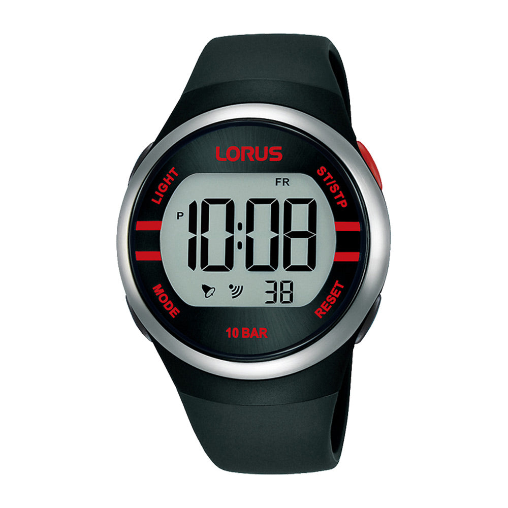 Lorus Digital Black/Red Sports Watch R2335NX-9