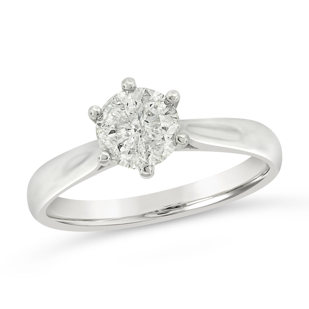 18ct White Gold 1.06ct Diamond Solitaire 6-Claw