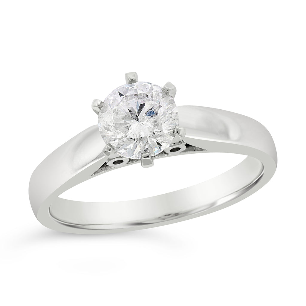 18ct White Gold 1.04ct 6-Claw Diamond Solitaire