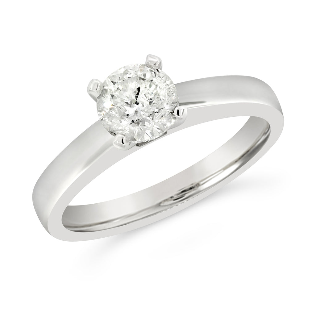 18ct White Gold 1.04ct Diamond Solitaire Ring