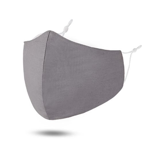 Grey Reusable Cotton Face Mask