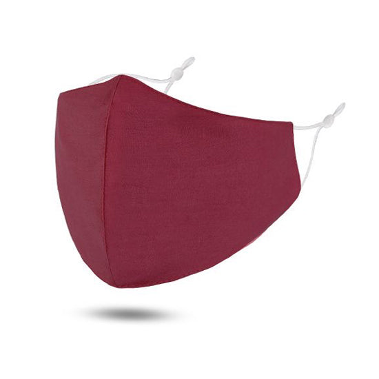Burgandy Reusable Cotton Face Mask