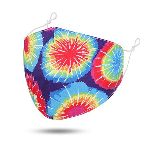 Circle Tie-dye Reusable Cotton Face Mask