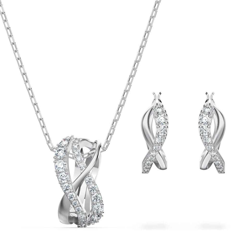 Swarovski Twist Pendant & Earring Set 5579790
