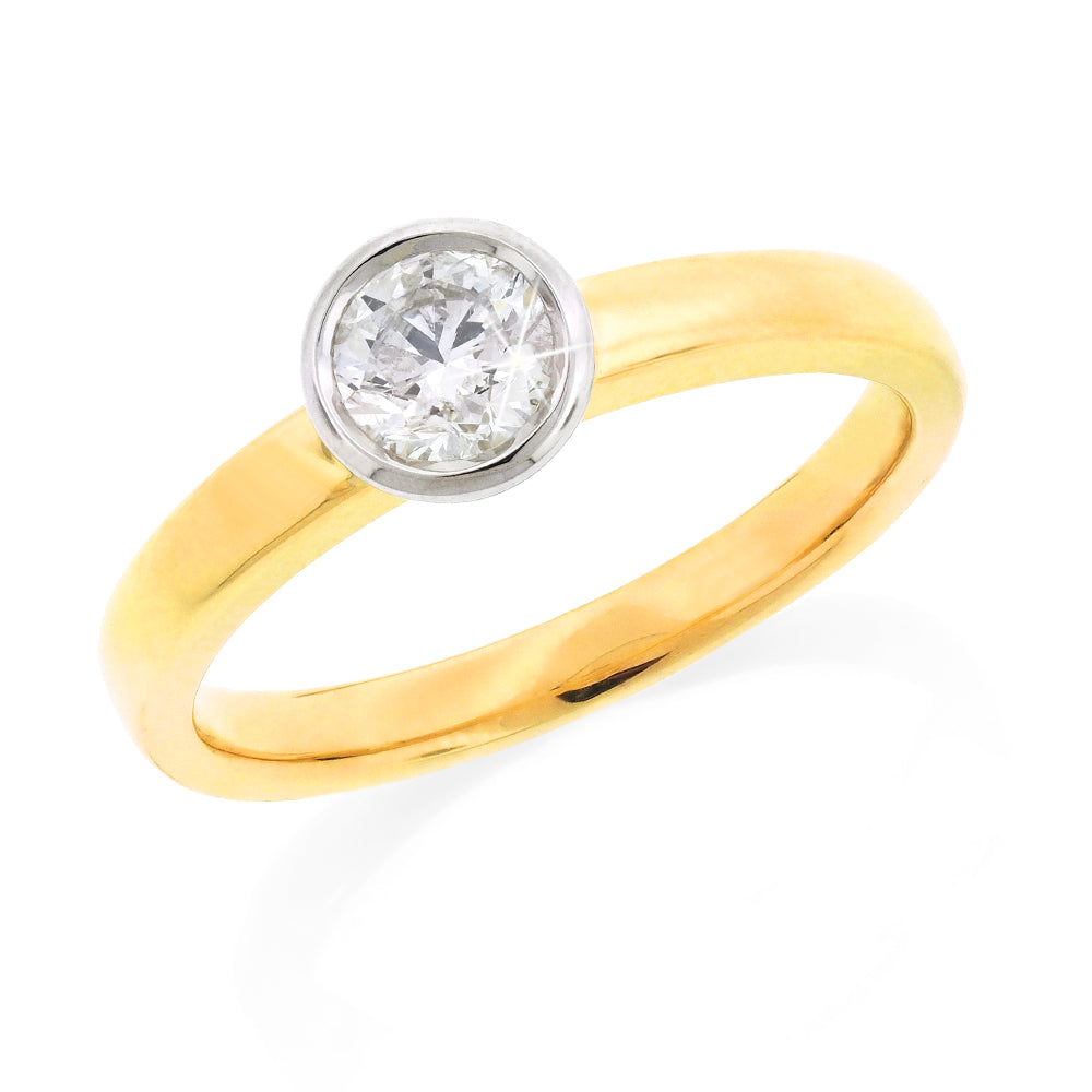 9ct Gold 0.56CT Diamond Solitaire Engagement Ring