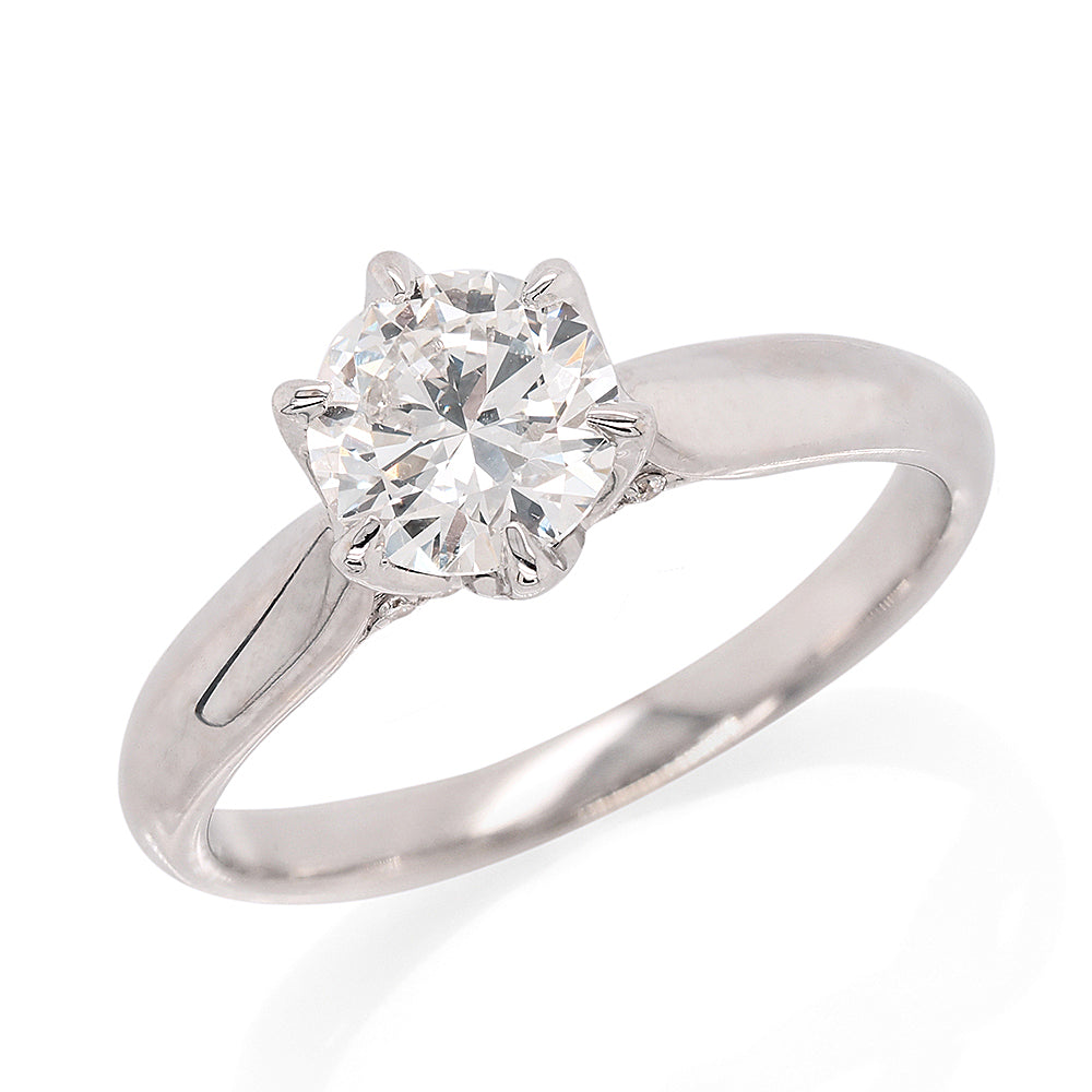 18ct White Gold 1.05ct Solitaire Diamond Engagement Ring