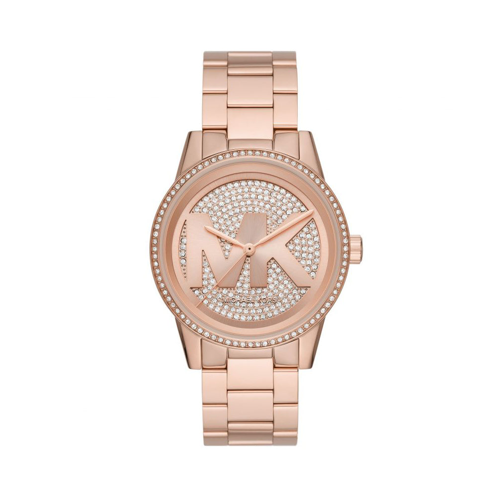 Michael Kors 'Ritz' Rose Tone Crystal Watch MK6863