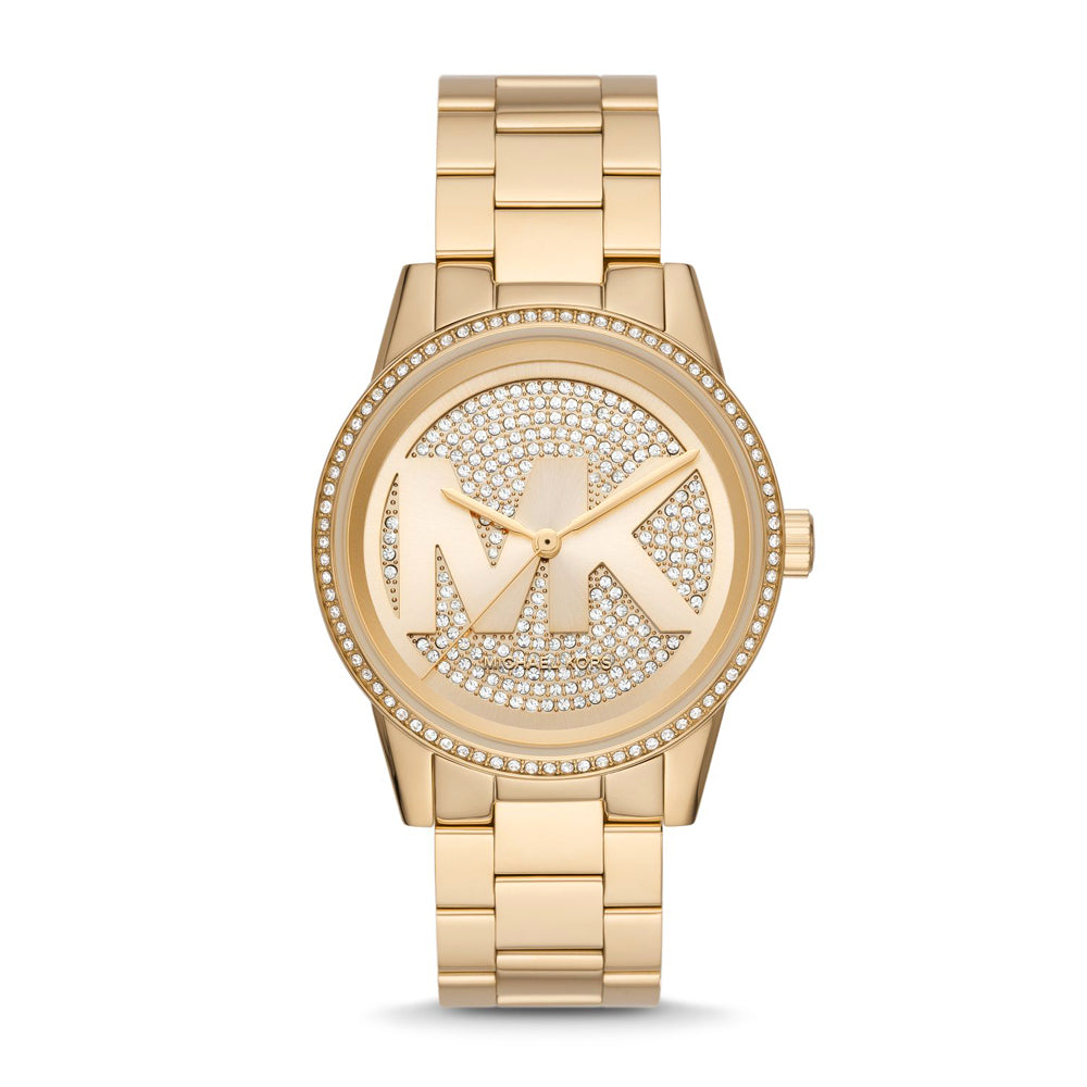Michael Kors 'Ritz' Gold Tone Crystal Watch MK6862