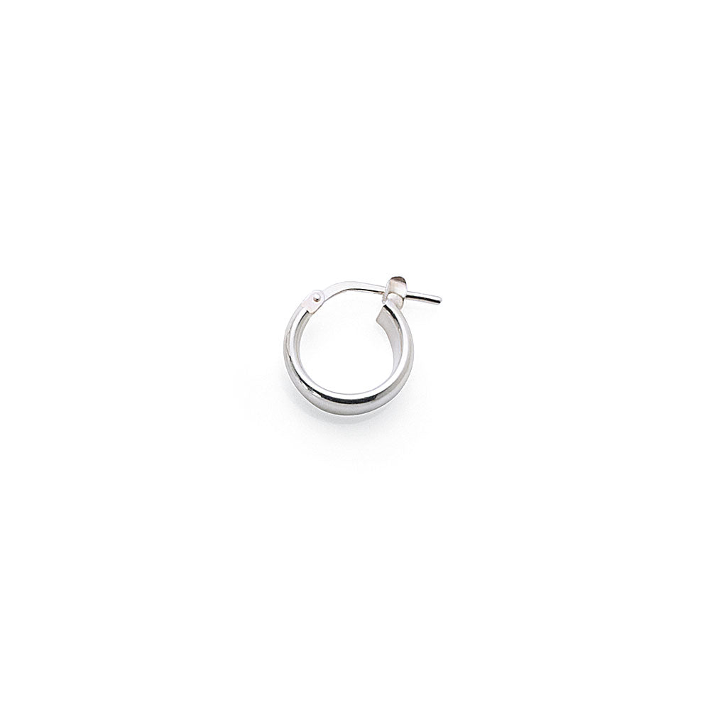 Sterling Silver 10mm Single Hoop
