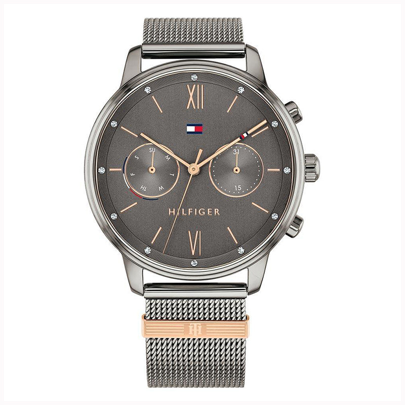 Tommy Hilfiger 'Blake' Grey Mesh Multi-function Watch 178230