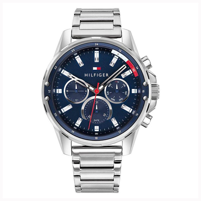 Tommy Hilfiger 'Mason' Silver Steel Multi-function Watch 179