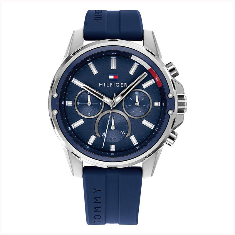 Tommy Hilfiger Mason Blue Silicone Band Multi-function Watch
