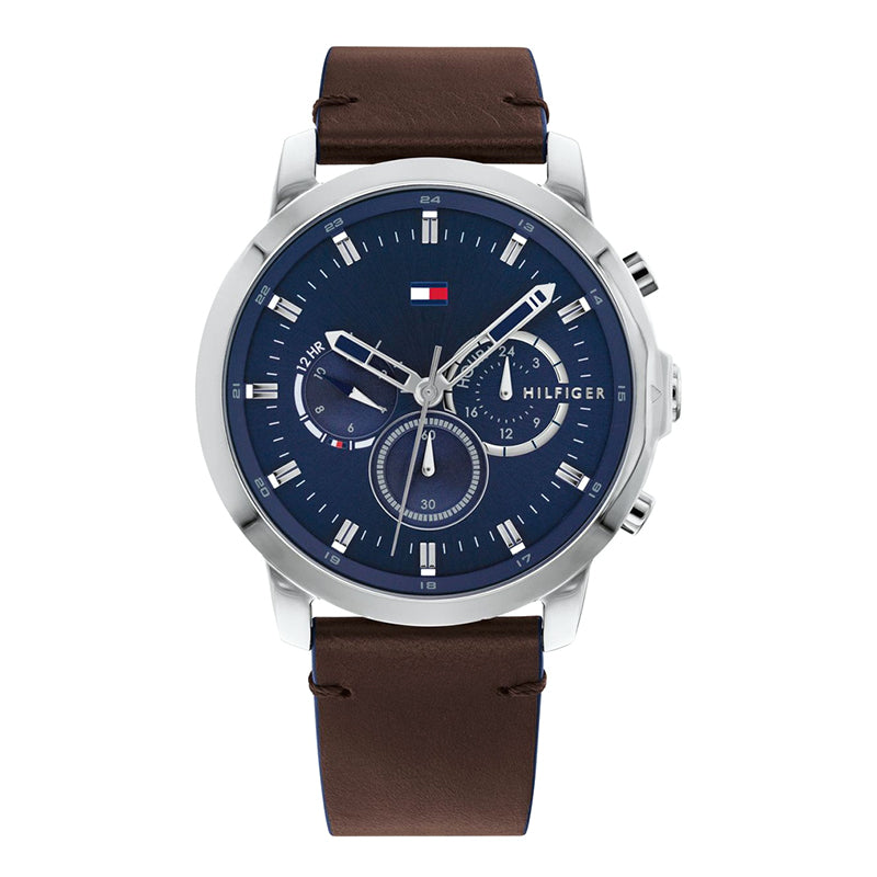 Tommy Hilfiger Brown Leather Multi-function Watch 1791797
