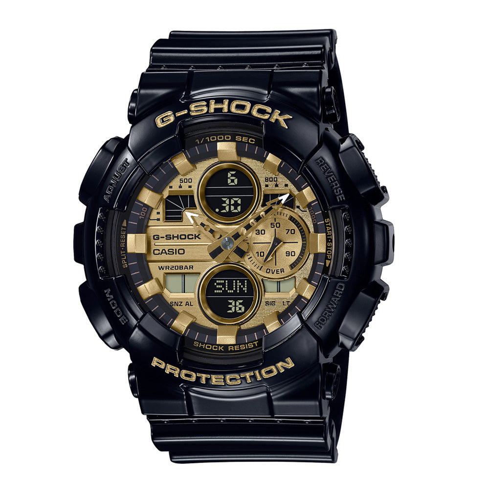 Casio G-Shock Black & Gold Analogue-Digital Watch GA140GB-1A