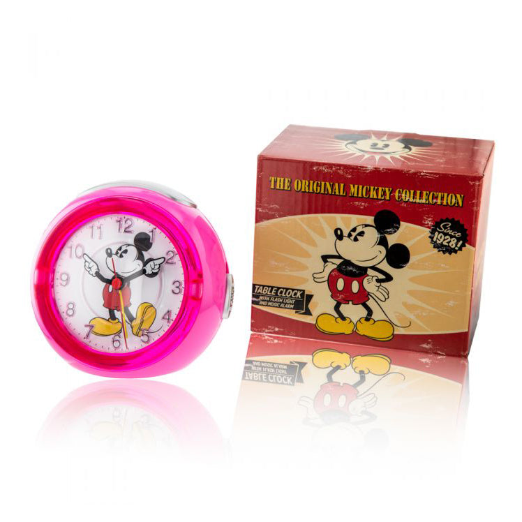 Disney Mickey Mouse Pink Musical Alarm Clock TR87993