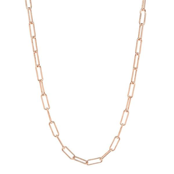 Najo 'Vista' Sterling Silver Rose Tone Chain 45cm Necklace N